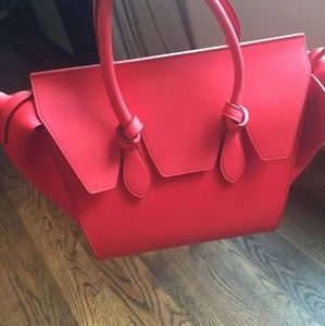 CELINE Mini Tie Knot Tote color ALIZARIN
